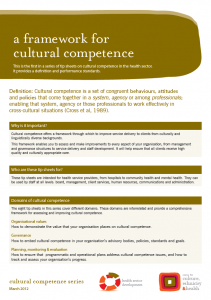 A framework for cultural competence