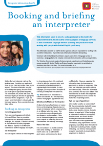 Booking and briefing an interpreter