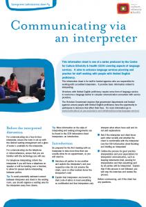 Communicating via an interpreter
