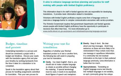 Planning for translation
