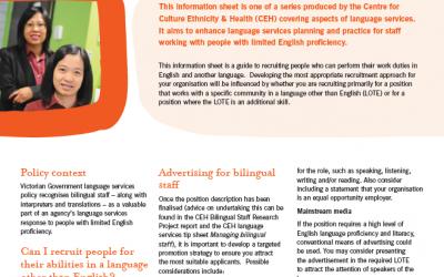 Recruiting bilingual staff