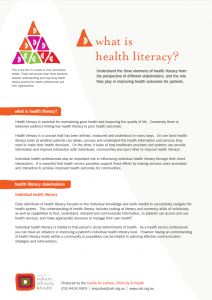 What is health literacy