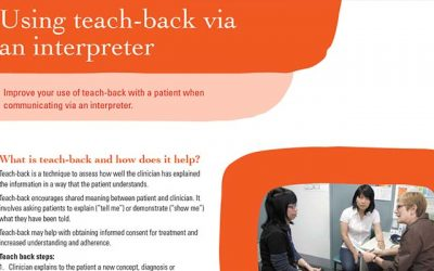 New 'Teach-back via an interpreter' resource to assist health practitioners
