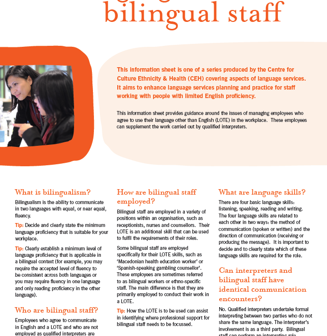 Managing bilingual staff