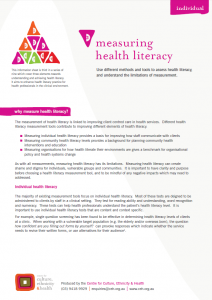 Measuring health literacy