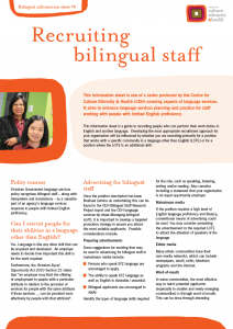 Recruiting bilingual staff