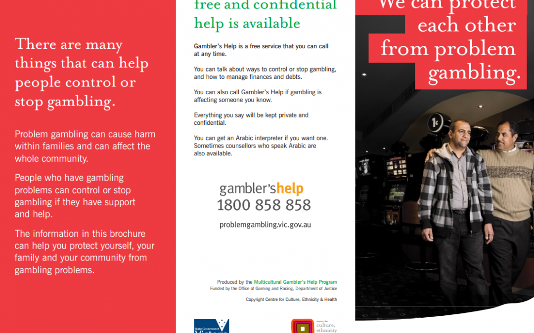 We can protect each other from problem gambling (brochure)