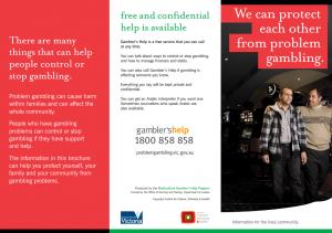 Gambling brochures free gillam casino chandler az