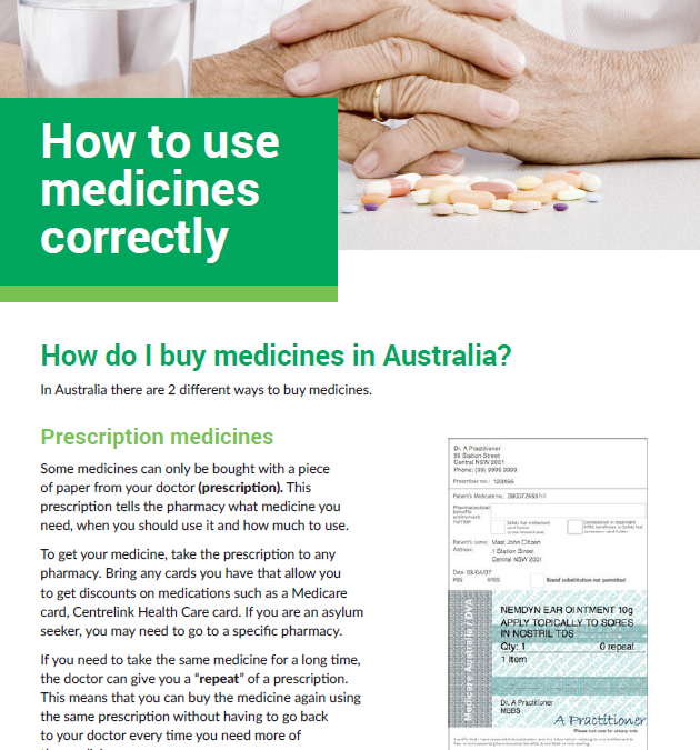How to use medicines correctly
