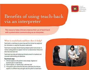 Using Teach-Back via an interpreter