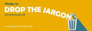 Drop the jargon large banner 2018