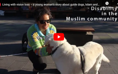 Living with vision loss – a young woman's story about guide dogs, Islam and disability