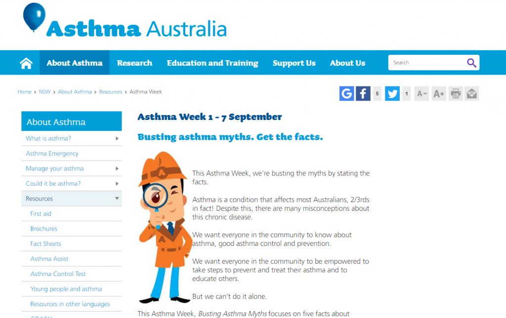 national asthma week