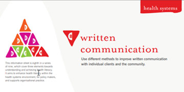 Health literacy - Written communication - Centre for Culture