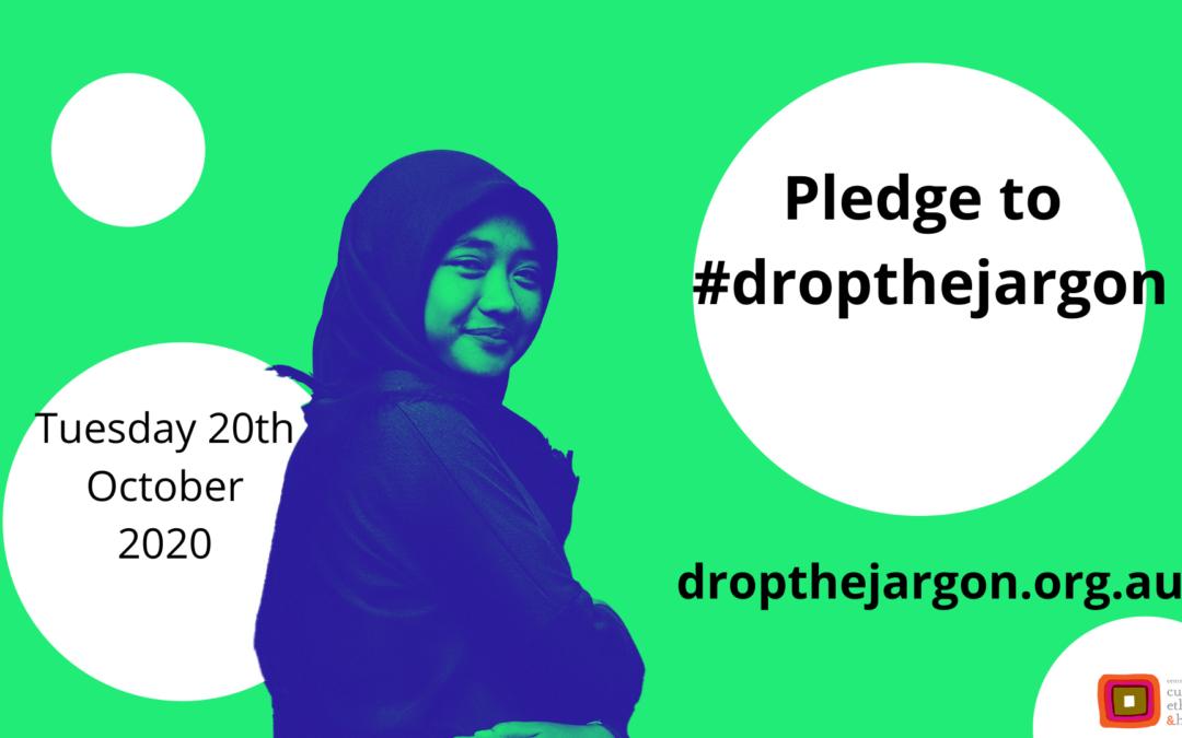Pledge to #dropthejargon and WIN